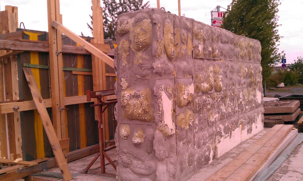 Struktur auf den Wänden der ehemaligen Reichsstadt