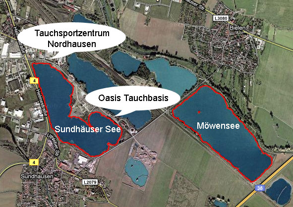 Übersichtskarte – Sundhäuser See / Möwensee
