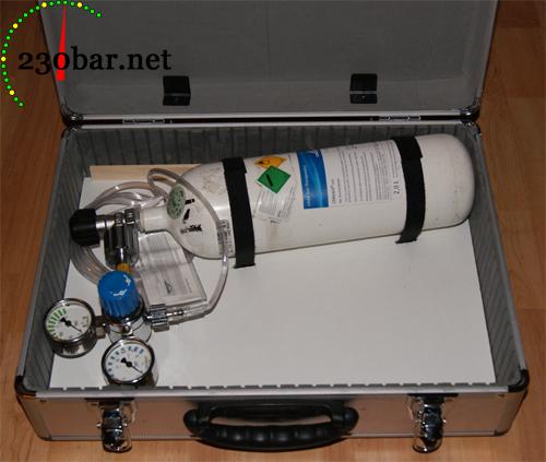 Sauerstoffgerät mit Grundplatte